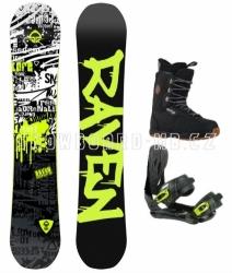 Dětský a juniorský snowboardový set Raven Core junior s vázáním a botami