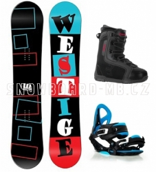 Snowboard komplet Westige Square, levný snowboardový set s botami