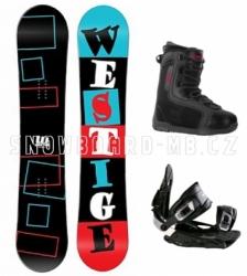 Snowboardový komplet Westige Square, levné snowboard komplety