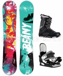 Dětský snowboardový set Beany Action, dětské snb komplety s botami