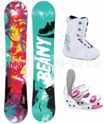 Dívčí snowboard komplet Beany Action, barevný snowboard pro děti a holky