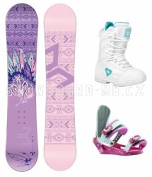 Dětský dívčí snowboard komplet Beany Spirit pro slečny a dívky