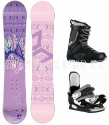 Dívčí a dámský snb komplet Beany Spirit, fialové snowboardy pro dívky