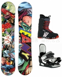 Snowboardový komplet Beany Heropunch black pro juniory i větší děti
