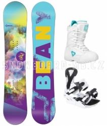 Dívčí snowboardový komplet Beany Meadow white