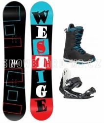 Snowboardový komplet Westige Square s botami Gravity