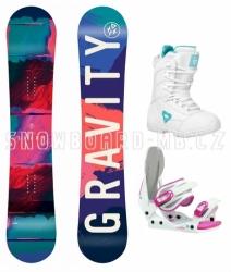 Dívčí snowboard komplety Gravity Fairy white
