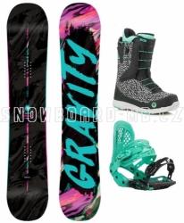Dámské snowboard komplety Gravity Sublime, rychloutahovací boty Fast Lace