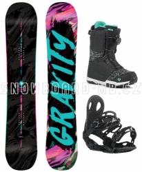 Dámský snowboard komplet Gravity Sublime, boty s Atop kolečkem nebo Fast Lace