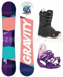 Dámský snowboardový komplet Gravity Electra, dámské snowboardy na sjezdovku i freestyle