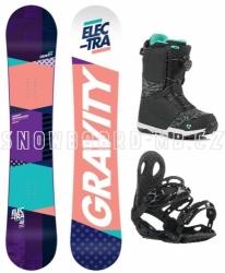 Dámský snowboardový set Gravity Electra s botami s kolečkem nebo Fast Lace