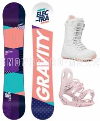 Dámský snowboard set Gravity Electra, dámské snowboardy s botami