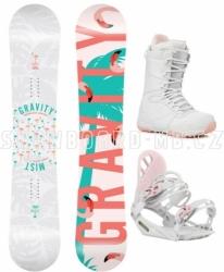 Dámský snowboardový komplet Gravity Mist white / pink