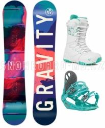Dívčí snowboard set s botami Gravity Fairy pro dívky asi od 10 let