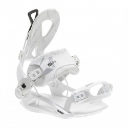 Rychlozapínací snowboardové vázání SP Private white / bílé pro muže i ženy