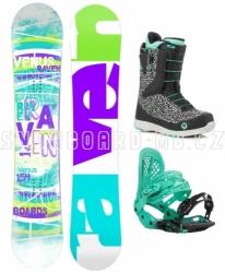 Dámský snowboardový set Raven Venus s botami Fast Lace
