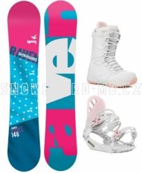 Dámské snowboard komplety Raven Style bílo-modro-růžové