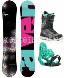 Dámský snowboardový komplet Raven Pearl (rychloutahovací boty)