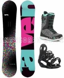 Dámský snowboardový set Raven Pearl (rychloutahovací boty)