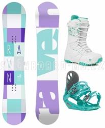Dámský snowboardový komplet Raven Laura white, mint, purple
