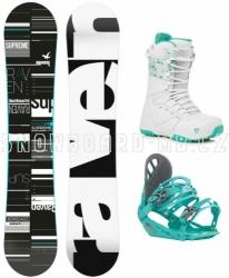 Dámský snowboardový set Raven Supreme s vázáním a botami Gravity