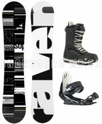 Snowboard komplet Raven Supreme s vázáním a botami Gravity