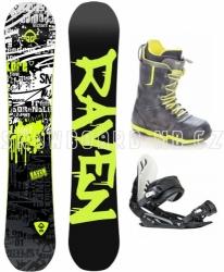 Snowboard komplet Raven Core s botami Raven Team