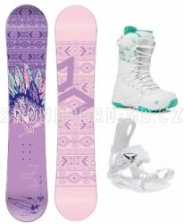 Dámský snowboardový komplet Beany Spirit + rychlozapínací vázání SP a boty Gravity