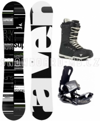 Snowboard komplet Raven Supreme black s vázáním SP Fastec