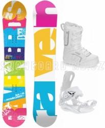 Dámský snowboard komplet Raven Infinity s rychlým vázáním SP a botami