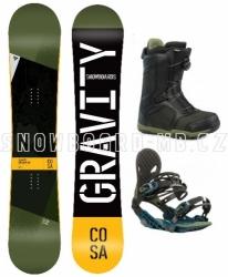 Snowboard komplet Gravity Cosa 2019/20 s botami s kolečkem nebo Fast Lace utahováním