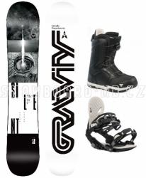 Snowboardový komplet Gravity Silent 2019/2020 s botami s kolečkem Atop
