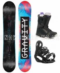 Dámský snowboard komplet Gravity Sublime 2019/20 s botami s rychlým utahováním