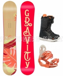 Dámský snowboard komplet Gravity Trinity 2019/20 s botami s kolečkem Atop