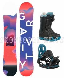 Dívčí dětský snowboard komplet Gravity Fairy, boty s kolečkem Atop