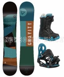 Dětský snowboard komplet Gravity Empatic Jr s botami s kolečkem Atop