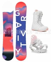 Dámský snowbard komplet Gravity Sirene 2019/20 white/pink