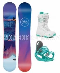 Dámský snowboardový komplet Gravity Voayer s botami Bliss