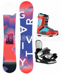Dívčí snowboard komplet Gravity Fairy s botami Westige červeno-modré