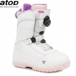 Dívčí dětské snowboardové boty s kolečkem Gravity Micra Atop white