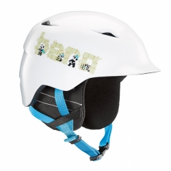 Dětská snb helma Bern Camino  satin white panda logo