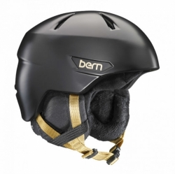 Dámská snowboardová helma Bern Bristow satin black/gold