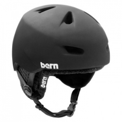 Zateplená snowboardová helma Bern Brentwood Audio Zipmold Knit