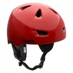 Chlapecká zimní helma Bern Chico Zipmold - Earpads red