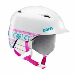 Dětská snb helma Bern Camino satin white fair isle 2019/2020