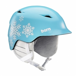 Dětská snowboard helma Bern Camino satin light blue snowflake
