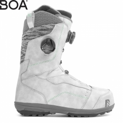 Dámské snb boty Nidecker Trinity Focus platinum grey s 2 kolečky boa