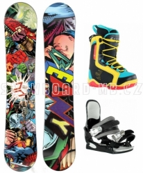 Snowboardový dětský a juniorský komplet Beany Heropunch s botami