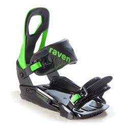 Vázání na snowboard Raven s200 green