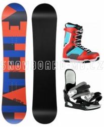 Dětský snowboard komplet Hatchey Drift a s vázáním a botami Westige modro-červené
